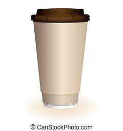 grande, xícara café