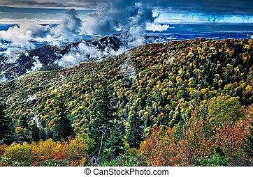grandes montanhas esfumaçadas parque nacional