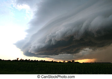 grandes planícies, supercell