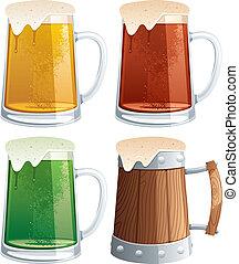 grandes tasses, bière