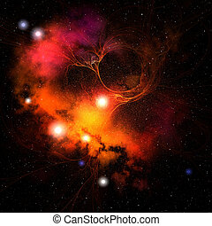 GRANDEUR - Cosmic space image of a nebula in the universe.