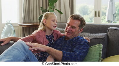 Grandfather and granddaughter spending time together - ...