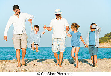 grandfather beach family