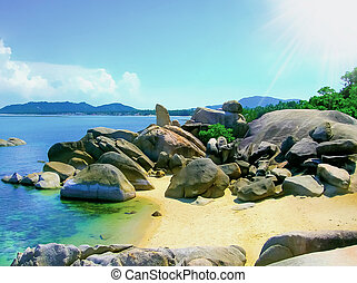 Grandfather rock and Grand mother , Koh Samui