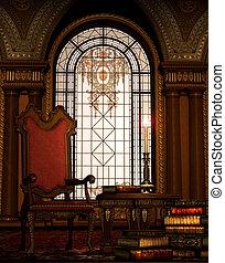 Grandfathers Armchair 1 - A nostalgic interior scene with...