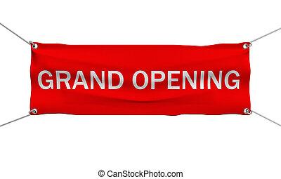 grandiose, bannière, ouverture