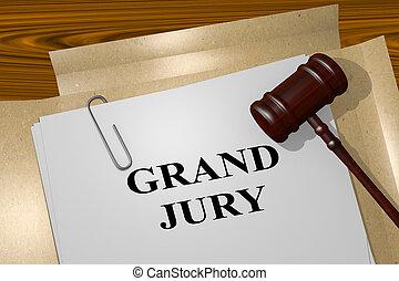 grandiose, concept, jury