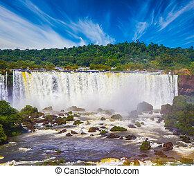 Grandiose multi-level waterfalls Iguazu