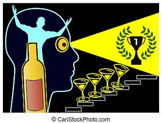 grandiosity, alcohol