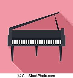 grandioso, apartamento, piano, estilo, ícone