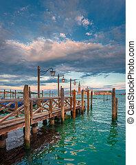 grandioso, itália, canal, veneza