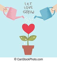 grandir, laisser, amour