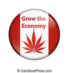 grandir, les, économie, marijuana, dans, canada, bouton