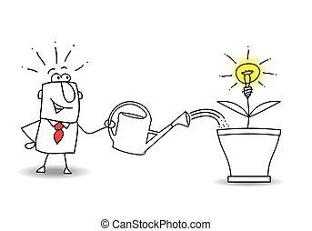 grandir, une, idée