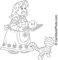 Grandma baked Roly-Poly - Granny holding a freshly baked ...