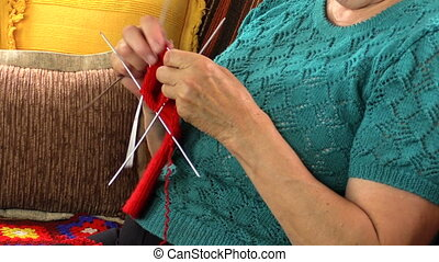 grandma hand knit sock