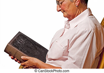 Grandma with bible