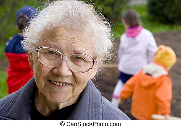 Grandma with childre - Smiling women