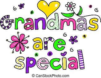 grandmas are special - decorative whimsical grandmas are ...