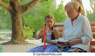 Grandmother And Granddaughter - Grandmother and...