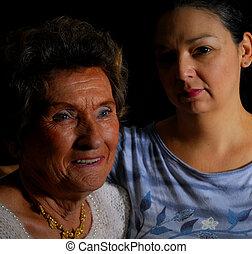 Grandmother and woman