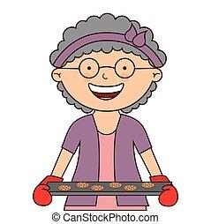 grandmother cooking design, vector illustration eps10 ...