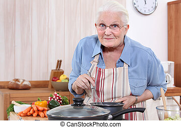 grandmother cooking