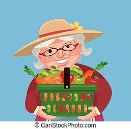Grandmother farmer character