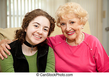Grandmother Granddaughter Portrait