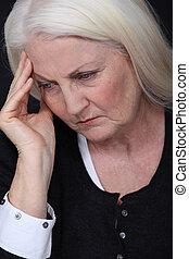 Grandmother grieving