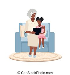 grandmother in a chair