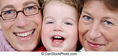 Generations - Grandmother, mother and daughter. 3 ...