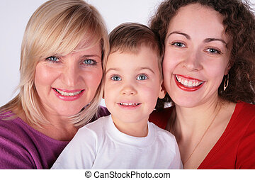 grandmother, mother, baby