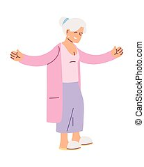 grandmother old woman smiling cartoon