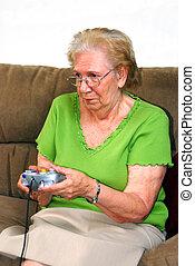 Grandmother Playing