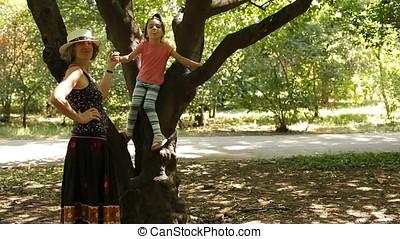 Grandmother Posing Niece for Camera