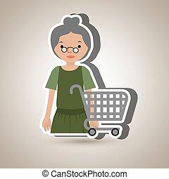 grandmother shopping design