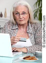 grandmother shopping online