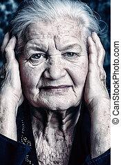 grandmother - Portrait of a beautiful smiling senior woman.
