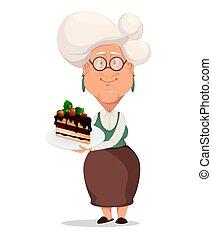 Grandmother wearing eyeglasses