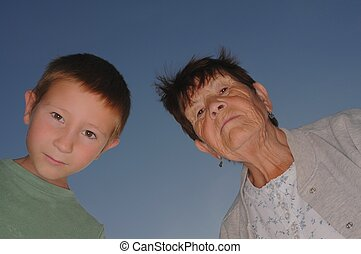 Grandmother With Boy