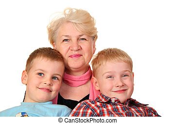 grandmother with hooligans grandchildren