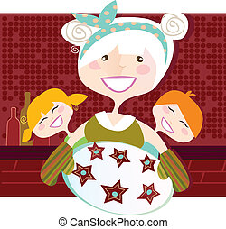 Grandmother with sweet cookies - Grandmother with perfect...