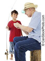 Grandpa and Me Go Fishing