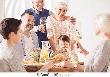 Grandpa making a toast