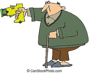 Grandpa With A Stun Gun