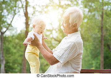 Grandparent and grandchild.