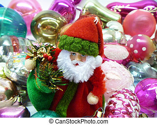 Grandparent Frost on background toy for fir tree