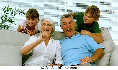 Grandparents and children raising