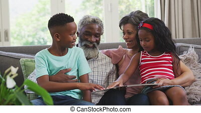 Grandparents and grandchild spending time together - Senior ...